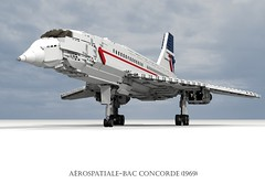 Arospatiale-BAC Concorde (1969) (lego911) Tags: auto usa france 1969 car america plane airplane model lego render aircraft sonic aeroplane boom airline concorde sound barrier british passenger ba chrysler airways amc challenge fwd airliner lhs cad 79 lugnuts bac povray supersonic moc ldd aeronautical miniland arospatiale anglofrench lego911 lugnutsgoeswingnuts