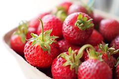 Strawberry Season () Tags: light food canada macro closeup fruit bc bokeh farm strawberries richmond upick m43 mirrorless microfourthirds olympusomdem5 olympusm25mmf18