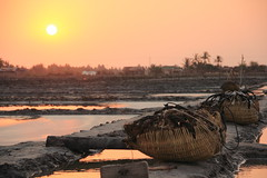 Sunset on Saltfield - Kampot - Cambodia