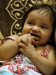Honey (Rahul Gaywala) Tags: baby cute eye girl smile kid big innocent daughter honey curious cheer playful gaywala