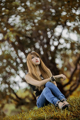 Yellow Star (Fevzi DINTAS) Tags: portrait people cute nature girl beauty fashion lady pose asian thailand photography star model asia pretty bokeh modeling outdoor style super thai stylish yellowish paza140