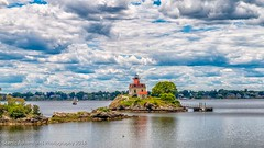 Pomham Rocks Light House (Southern New England Photography) Tags: eastprovidence summer lighthouse water canon buildings harbor unitedstates shoreline newengland rhodeisland biking northamerica sigmalens eastbaybikepath pomhamrockslighthouse eos70d sigma1750mmf28dcoshsm