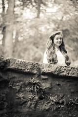 Bridge Gaze (NinjaTurnip186) Tags: portrait girl fashion sepia hair happy nikon flash d600 atmospher