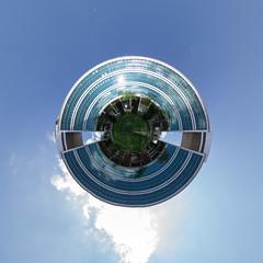 Omegahaus (HamburgerJung) Tags: panorama germany deutschland pentax omega haus fisheye planet k3 offenbach stereographic hugin littleplanet da1017 nn5 nodalninja