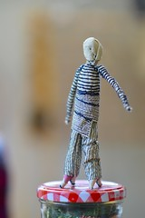 (Danny W. Mansmith) Tags: doll workinprogress figure stitching smallart freestanding handsewing dannymansmith machinesewing