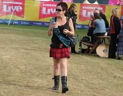 Kilt 'n Boots (cessna152towser) Tags: sunglasses scotland kilt boots sash miniskirt tartan bannockburn