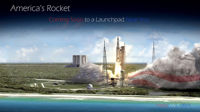 Artist Concept: America's Rocket (NASA, Space Launch System, 07/02/14)