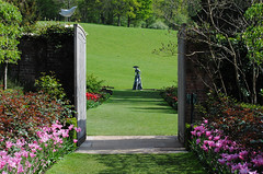 Pashley Manor - East Sussex (Mark Wordy) Tags: sculpture statue gardens garden gate tulips eastsussex walledgarden tulipa tulipfestival philipjackson pashleymanor theglassslipper