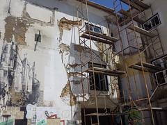VHILS under construction (aestheticsofcrisis) Tags: street urban streetart art portugal graffiti mural europe lisboa lisbon urbanart intervention guerillaart muralism vhils