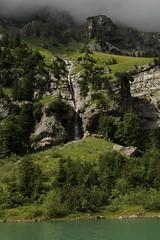 Wasserfall - Waterfall eines Bergbach ( Creek - Bach ) am Oeschinensee ( Bergsee - See - Lac - Lake ) oberhalb von Kandersteg im Berner Oberland im Kanton Bern in der Schweiz (chrchr_75) Tags: lake lago schweiz switzerland see waterfall suisse wasserfall swiss lac kandersteg slap juli christoph svizzera bergsee cascade berner cascada berneroberland  oberland 2014  waterval suissa  oeschinensee vattenfall vodopd chrigu wodospad vandfald 1407 kantonbern alpensee chrchr hurni chrchr75 chriguhurni chriguhurnibluemailch albumwasserfllewaterfallsderschweiz juli2014 albumwasserflleimkantonbern hurni140731 albumoeschinensee
