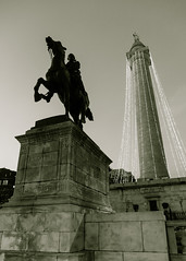 Lafayette statue & Washington Monument
