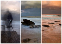 The Photographer and the Long Exposure (loobyloo55) Tags: longexposure sunset sea seascape water australia centralcoast