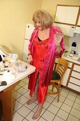 new96727-IMG_8503t (Misscherieamor) Tags: kitchen tv feminine cd motel lingerie tgirl transgender mature sissy tranny transvestite satin crossdress ts gurl tg nightgown travestis shoeless travesti travestie m2f xdresser tgurl