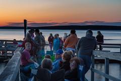 SouthBaySunset-20140704-12 (Frank Kloskowski) Tags: sunset people reflection dock michigan fourthofjuly southbay lakesuperior munising