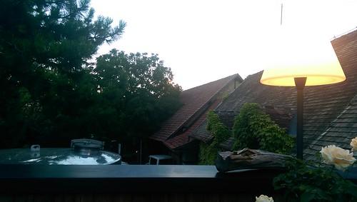 Dachterrasse Kaupers mit Blick auf Kapellenhof