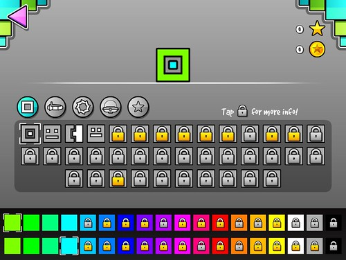 Geometry Dash Items Store: screenshots, UI