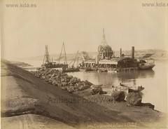 Widening on Suez Canal construction machinery (kdayes) Tags: