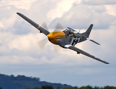 Mustang (Bernie Condon) Tags: plane vintage flying fighter aircraft aviation military na airshow ww2 preserved mustang warbird warplane dunsfold p51 usaaf