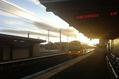 Milton Station (clopenthixol) Tags: sunset brisbane milton qr queenslandrail citytrain miltonstation