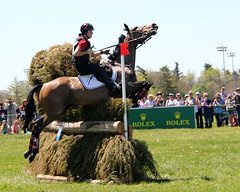 No, we are going *that* way! (RPahre) Tags: jumping kentucky crosscountry lastcall rolex threedayevent rolexkentuckythreedayevent rolexkentucky rachelmcdonough