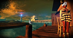 The Sea's Light (Chioma Namiboo Jinn) Tags: sea sun lighthouse secondlife sail serene secondlifephotography secondlifeexploration