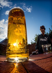 fisheyed  pint. (CWhatPhotos) Tags: pint lager carling sun light sunlight through glass table top pub anchor inn wooler beer fisheye fish eye samyang 65mm wide photographs photograph pics pictures pic picture image images foto fotos photography artistic cwhatphotos that have which with contain olympus em10 esystem four thirds digital camera lens olympusem10 focus view 43 fit mft micro