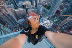 I dont usually take selfies (tomms) Tags: city horse toronto selfie rooftopping