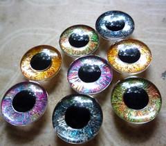 New handpainted eyechips - Metallic