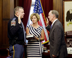 09-02-2014 Lt. Colonel Jack Clark sworn in as Assistant Director of the Alabama Department of Public Safety