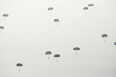 Finally, para's in the air over the dropzone #Margetgarden2014 #Airborne_2014