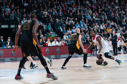 O'Darien Bassett - ©2014 Jacques Cormarèche  Samedi 07 mars 2014. Basket, Pro B : JL Bourg - SOMB   ©2014 Jacques Cormarèche