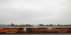 BNSF 1035 (Heritage I) in Southern California (hupspring) Tags: railroad train diesel engine locomotive southerncalifornia orangecounty anaheim placentia bnsf burlingtonnorthernsantafe dash9 es44dc c449w heritage1 es44c4 bnsfsanbernardinosub bnsf7406 bnsf1035 heritage3 bnsf6778