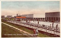 Butlins Skegness - Skating Rink (trainsandstuff) Tags: vintage postcard retro butlins archival skegness holidaycamp lincs butlkins