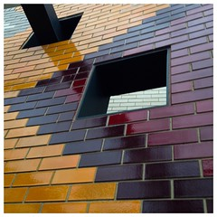 Coloured Brickwork (BrianRope) Tags: