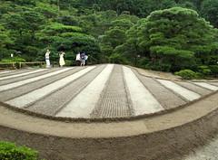 Dry Japanese garden but wet with the rain! (2 photos) (Raffa2112 *off*) Tags: japan japanesegarden kyoto ghiaia giappone zengarden giardinozen canonpowershotg10 giardinogiapponene