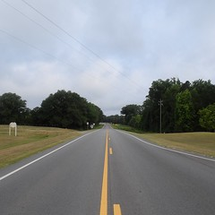 The Road Ahead. Day 69. 6th Ave in Lyons, GA. Lots of cloud cover today, should be pleasant walking. #TheWorldWalk #travel #Georgia #wwtheroadahead