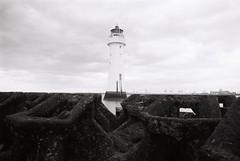 21 New Brighton lighthouse (I  Minox) Tags: blackandwhite lighthouse film monochrome kodak tmax olympus olympusom2 om2 100asa tmax100 wirral newbrighton merseyside kodaktmax100 2015 om2n thewirral