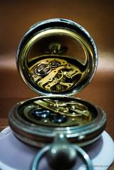 Focus on time (Jocke Selin) Tags: internals macro bicestercameraclub reflection time focus clock watch cogs