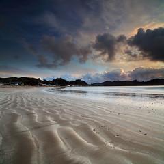Oakura Bay (angus clyne) Tags: bay new zealand northland pattern ripple wave oakura nz sunrise dawn vertorama