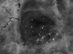"Rosette 26x300 180217 Meade 8"" AP FR, 5nm ha filter (saundersfay) Tags: rosettenebula telescope light years space monoceros"