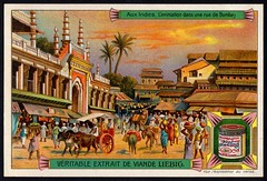 Liebig Tradecard S853 - A Busy Street in Bombay (cigcardpix) Tags: tradecards advertising ephemera vintage chromo liebig india