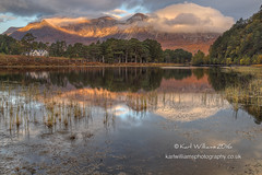 Coulin Daybreak (Shuggie!!) Tags: clouds dawn forest grasses hdr highlands hills houses landscape lochcoulin morninglight mountains pine reflections scotland torridon trees westerross zenfolio karl williams karlwilliams