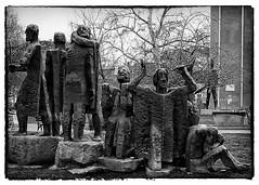 The Struggle 1 (FujiRob) Tags: sofia bulgaria statues struggle blackandwhite bw park fujifilmx10 nikefex silverefex explored