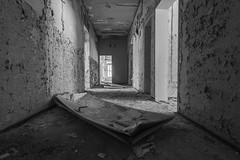 Who slammed the door? (marconielinger) Tags: nikond5300 tokina1224 bw abandoned lostplace verlassen