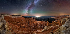 Cedar Breaks Panorama (Wayne Pinkston) Tags: cedar cedarbreaks nationalmonument utah erosion hoodoo night stars star starrynight starscape sky nightsky nightscape panorama nightphotography nightlandscape waynepinkston lightcrafter lightcraftercom waynepinkstonphotocommilkyway milkyway galaxy cosmos theheavens astrophotography landscapeastrophotography widefieldastrophotography wideangle nikon longexposure