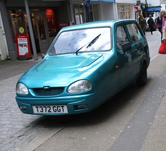 Reliant Robin (occama) Tags: t372ggt reliant robin old car three wheel wheeler 1999 aqua cornwall uk