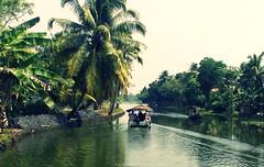 Backwater Rides (Shrayansh Faria Photography) Tags: backwaters water lush green tropical boat