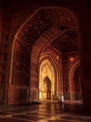 Prayer Gateway - Agra, India (Kartik Kumar S) Tags: architecture tajmahal taj agra uttarpradesh india sunrise light design street photography canon 600d tokina 1116mm prayer islam muslim