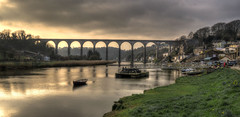 Calstock Viaduct, River Tamar (Baz Richardson (trying to catch up again!)) Tags: cornwall calstock calstockviaduct rivertamar railwayviaducts devon bridges