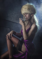 the spy who loved me (Nicolas Facq Fine Art Photography) Tags: strobist stockings stokingspinup surreal satin scenes